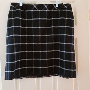 Talbots Wool Plaid Skirt